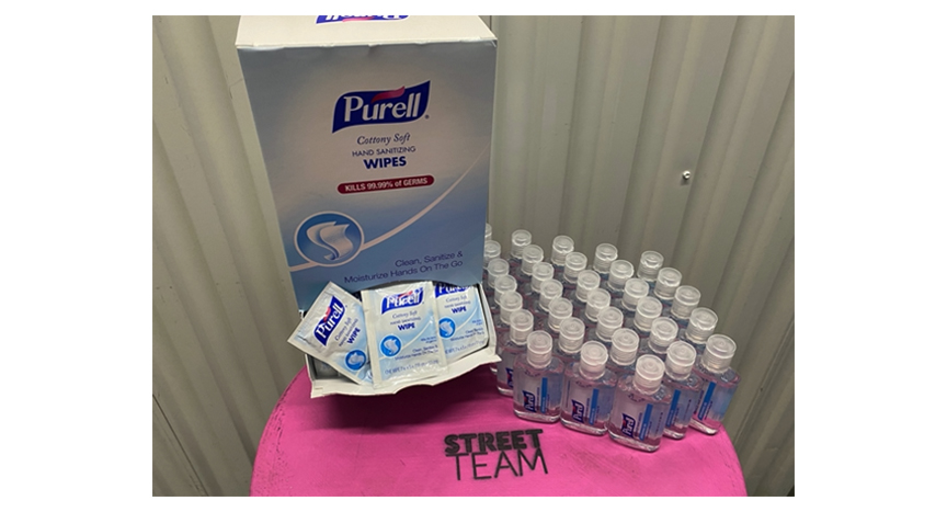 Individual Purell Wipes & Hand Sanitizer for Production NYC