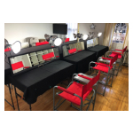 production table and chairs rental new york city